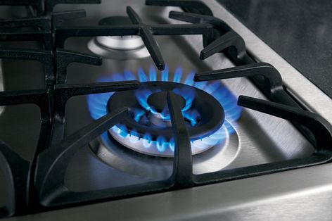 "GE's ""Tri-ring"" burner which has two burners stacked together for more power and even heating."