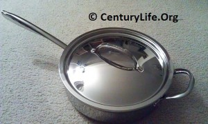 Williams-Sonoma Thermo-Clad Stainless Steel Saute Pan