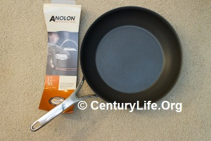 12 inch Anolon Nouvelle Copper Nonstick Skillet; Packaging and sticker removed