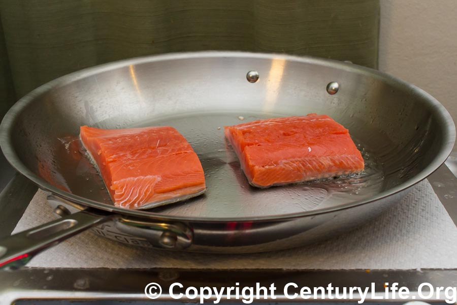 All-Clad Copper Core 12-inch Skillet - Salmon