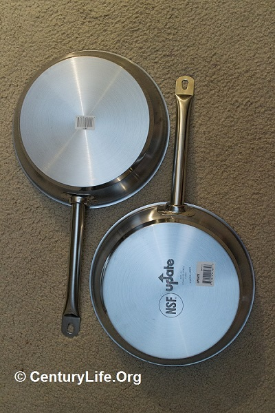 Vollrath Optio aka Update International SuperSteel 11 inch skillets.