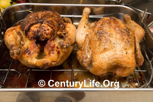 Orange Ginger (left) and Lemon Ginger (right) Roasted Chicken