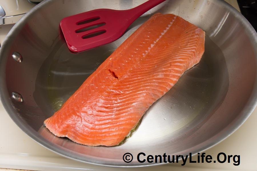 All-Clad MC2 12 Inch Skillet + Wild Alaskan Sockeye Salmon