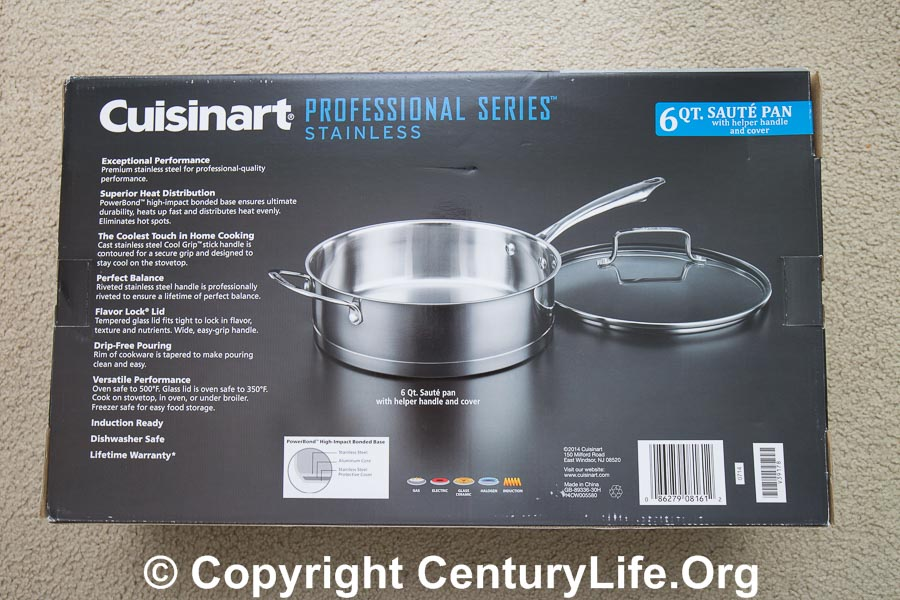 Cuisinart Professional Series 12 inch 6 quart saute pan
