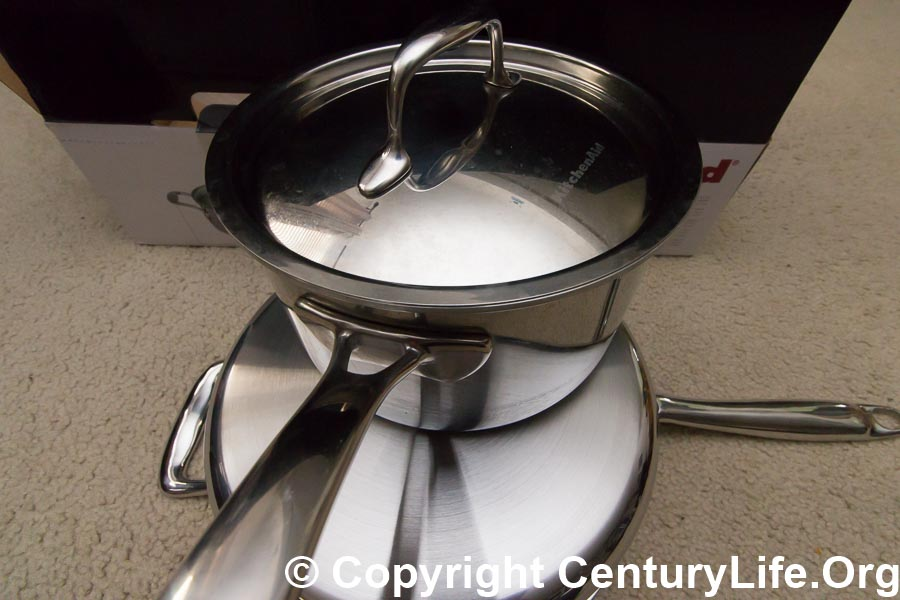 kitchenaid triply stainless review of 35 qt saute and 3 qt saucepan