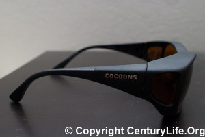My first pair of orange-tinted sunglasses from over 2 years ago (Cocoons).