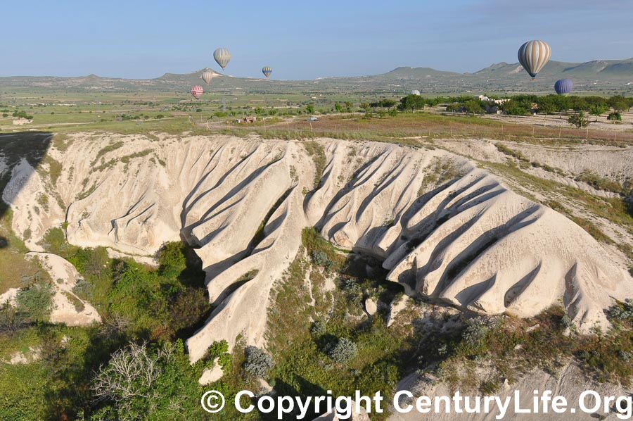 I took this photo while riding in a balloon in Cappadocia, Turkey