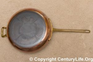 Bottega del Rame - Mazzetti Copper 30 cm 12 inch frying pan